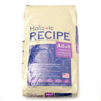 Holis+ic Recipe Adult Dry Dog Food 15kg
