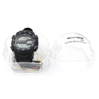 Sanse Water Resistant Uni-sex Watch TPU resin Strap-628 Black Price Philippines