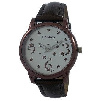 Harga Destiny Luminous Stars Women's Quartz Watch (Chocolate)