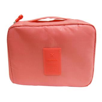 Harga Wawawei Waterproof Toiletry Cosmetic Bag (Pink) #32309