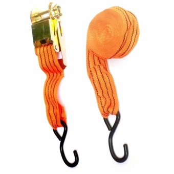 Ratchet Strap Tie-Down Tool for Vehicle Cargo heavy duty 10,000lb (Orange)