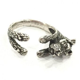 Lieblings Schatz Schnauzer Resizable Ring (Silver) Price Philippines
