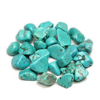 Harga 100g MINI Beautiful BLUE Turquoise rock polished Rough stone Nugget Healing lss - intl