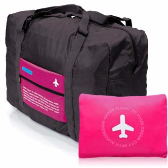 Harga Happy Flight Folding Travel Bag (Pink)