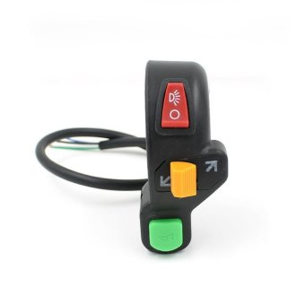 Harga Motorcycle Triple Combination Turn Signal Switch Horn Headlight Switch (Black)