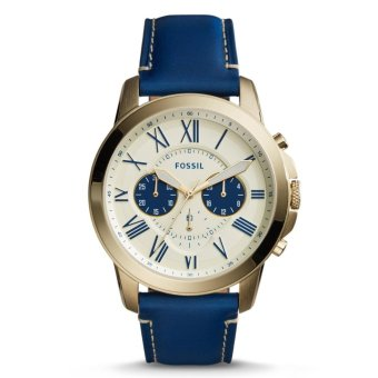 Fossil Grant Chronograph Blue Leather Stainless Steel Case Cream Dial Men's Watch FS5271 Price Philippines