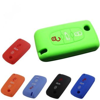 Three Buttons Remote vKey Fob Case Silicone Cover fit for CITROEN C2 C3 C4 C5 C6 Picasso (Green) Price Philippines