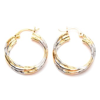 Jewelrista Circle Connecting Hoop Earrings (Two Tone) Price Philippines