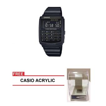 Casio Data Bank Series Men Black Stainless Steel StrapWatch CA-506B-1ADF (FREE CASIO ACRYLIC) Price Philippines
