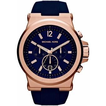 Michael Kors Dylan Navy Dial Rose Gold-tone Navy Silicone Strap Men's Watch MK8295   Price Philippines
