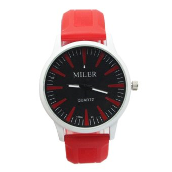 Harga Miler Men's Red Neon Rubber Strap Watch
