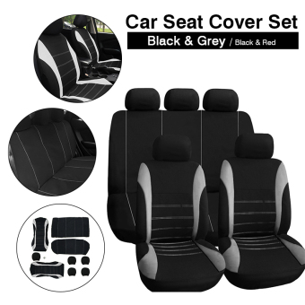9in1 Car Seat Covers Set 2x Front +1x Rear +5x Head Rest Covers Universal MA548 Price Philippines