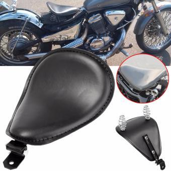 "3\ Leather Motorcycle Sportster Chopper Bobber Custom SOLO Spring Bracket Seat - intl"""