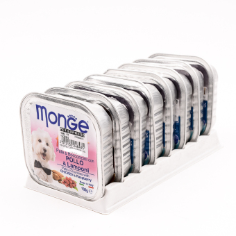 Harga Monge Fruit Chicken/Raspberry Wet Dog Food 100g ( 8 pcs / tray)