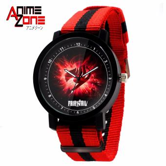 ANIME ZONE Fairy Tail Emblem Trendy Nylon Strap Anime Watch (Red/Black) Price Philippines