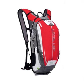 Local Lion Outdoor Cycling Travelling Backpack (Red/Grey) Price Philippines