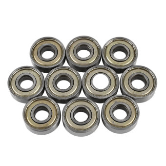 10 Pcs Carbon Steel 608zz Deep Groove Ball Bearing For Skateboard Scooter