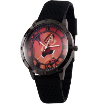 Anime Angry Monkey D. Luffy Classy One Piece Rubber Strap Wrist Watch (Silver/ Black) Price Philippines