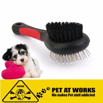 Harga Brush Double Sided Comb for Pets dog cat Plastic Handle tool