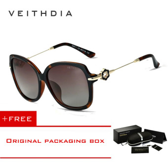 VEITHDIA TR90 Women's Driving Sun glasses Polarized Mirror Lens Luxury Ladies Designer Sunglasses Eyewear For Women 8011(Leopard) [ Buy 1 Get 1 Freebie ] Price Philippines