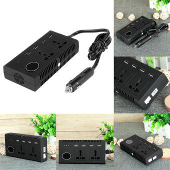 Harga 4200PC 200W DC 12V to AC 110V Car Smart Power Inverter w/ 4-USB/Dual AC