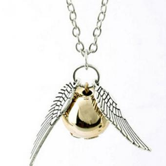 Harga HengSong Harry Potter Golden Snitch Quicksilver Golden Pearl Necklace Fairy Jewelry - Intl