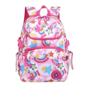 Harga Grade 2-4 Kids Girls Backpack for Primary School Students Child School Bags for Girl – Pink