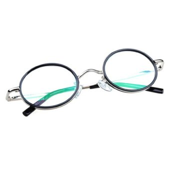 Harga Teamwin Retro Rimmed Reading Glasses Round Lenses +3.0 with Case Cloth