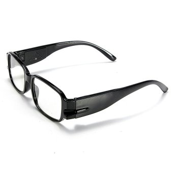 Harga S & F Night Unisex Black Rimmed Reading Glasses Eyeglasses Spectacle With LED Light +2 - Intl
