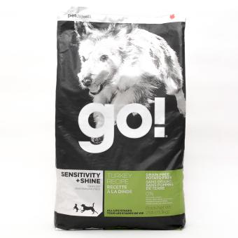 Go Natural Turkey Recipe Sensitivity & Shine Dry Dog Food 25lbs