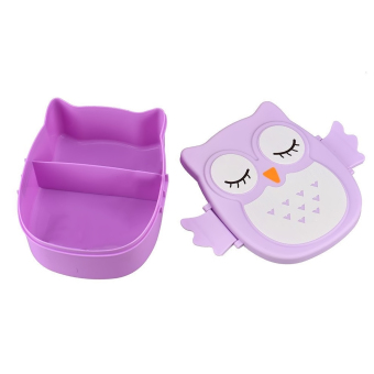 Kids Adults Owl Style Lunch Box Food Container Storage Box Portable Bento Box Purple Price Philippines