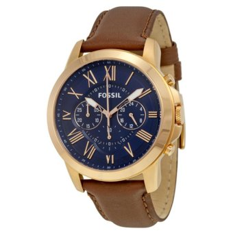 Fossil Grant Chronograph Blue Dial Brown Leather Men's Quartz Watch FSFS5068 Price Philippines