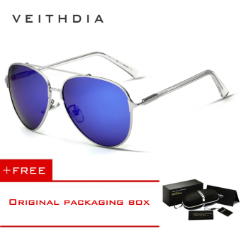 VEITHDIA Brand Fashion Men's Sunglasses Polarized Eyewear UV400 3802 (blue) [ Buy 1 Get 1 Freebie ] Price Philippines