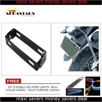 Harga Motorcycle License Plate Number Holder Universal Adjustable Bracket Black Frame for for Yamaha Vega Force i