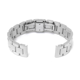 18mm 304Acero Inox Tres Filas Reloj Correa Banda Venda Watch Band Strap (Silver) Price Philippines