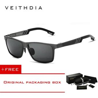 VEITHDIA Aluminum Sunglasses Polarized Lens Men Sun Glasses Mirror Male Driving Fishing Eyewears Accessories 6560 (Grey) - intl Price Philippines