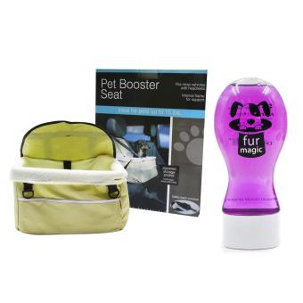 Pet Booster Seat (Beige) with Fur Magic Shampoo 300 mL Purple Price Philippines