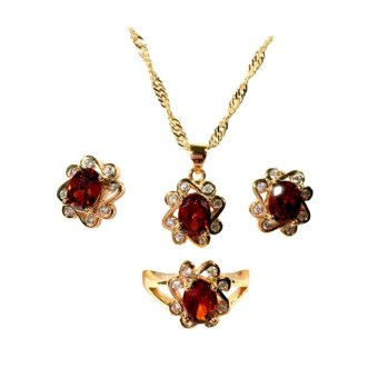 Harga NJMS CLLN 3-1 jewelry Set with Garnet #1