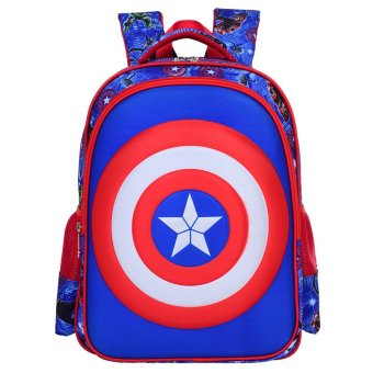 3D American Captain School Bag (Blue, L) Price Philippines