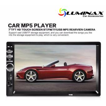 Harga Universal 2 Din Car MP5 Player Car Video Player Touch Screen Auto Audio Stereo 7018B Multimedia FM/MP5/USB/AUX/Bluetooth Camera