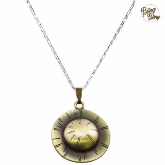 Bling Bling One Piece Monkey D. Luffy Mugiwara Fashionable Straw Hat Pendant Necklace (Silver) Price Philippines