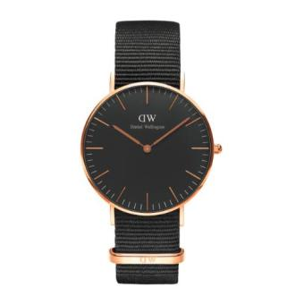 DANIEL WELLINGTON CLASSIC BLACK 36MM CORNWALL WOMEN'S WATCH ROSEGOLD WATCH Price Philippines