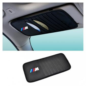 DVD CD Holder Organizer Storage Case Car Sun Visor M For BMW M3 M5 M6 BMW E39 E36 E60 E34 E90 E65 E70 E53 8 Slots - Intl Price Philippines
