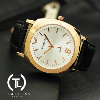 Womage Sara Gold Leather Watch (White Face) Price Philippines