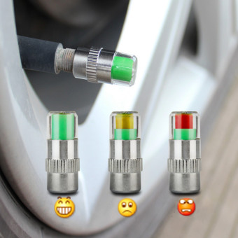 2 PCS Car Auto Tire Pressure Monitor Valve Stem Caps Sensor Indicator - Intl
