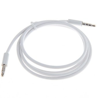 OEM Car Male to Male 3.5mm Audio AUX Cable - Mobile Phone MP3 CD TV - Putih Price Philippines