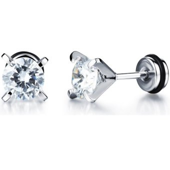 Harga Petrel Korean Zircon Diamond-setting Fashion Earrings For Men (Intl)