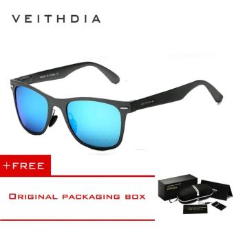 VEITHDIA Aluminum Men's Polarized Mirror Sun Glasses Male Driving Fishing Outdoor Eyewears Accessories Sunglasses For Men 2140(Blue) [ Buy 1 Get 1 Freebie ] - intl Price Philippines