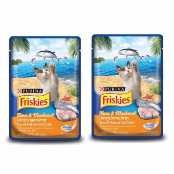 Harga Buy 2 Pouches of Purina Friskies Tuna and Mackerel Cat Wet Food 80g