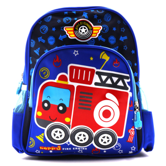 Harga Happy Kids Unisex Kids Backpack (Firetruck Design)